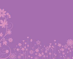 Flores Rosadas es una presentación elegante que puede ser utilizada como fondo de PowerPoint y que contiene unos efectos de flores de diferentes formas y tamaños sobre un fondo de color violeta