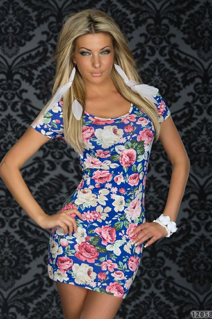 Rochie Flowery Blue >> Click pe poza pentru a vedea pretul. #rochii #rochiideseara #fashion #dress #rochiideocazie