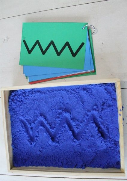 Download some free pre-writing cards to use in sand or salt tray