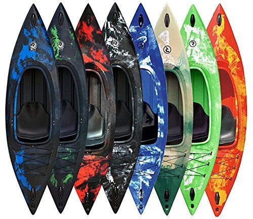 Riber One Man Sit In Kayak - Includes Free Spray Deck - Ideal for Beginners - Rear Storage Area - 140kg Capacity - Various Colours Available