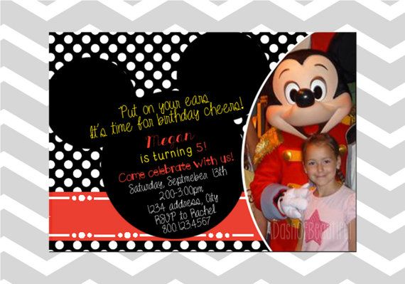 Mickey And Minnie Birthday Party Invitation by ADashOfBeautiful, $7.00