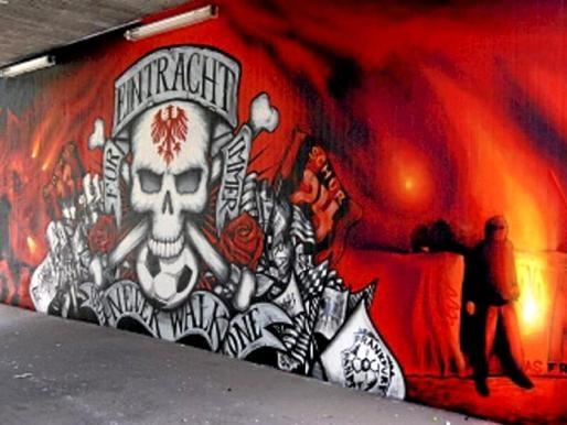 Eintracht-Graffiti Frankfurt
