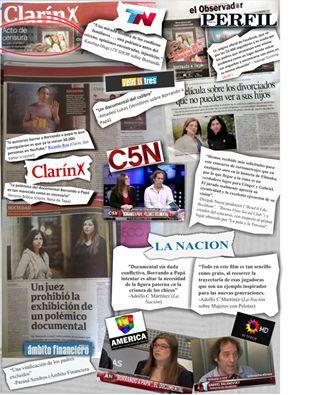 Major Argentine media - Our documentary Borrando a Papá