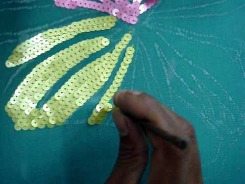 sewing sequins tutorial!! wow!!
