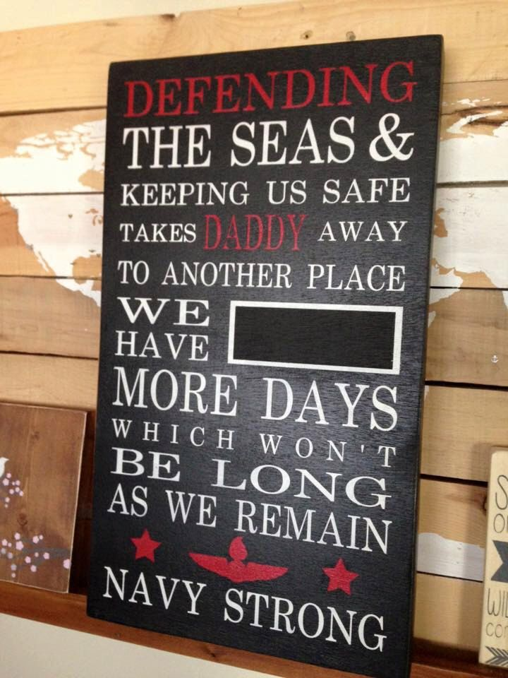 Deployment countdown chalkboard - customizable