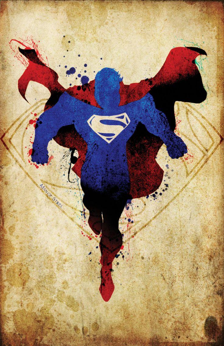 Superman Man of Steel 2 Minimalist Posters Homage by MaJiKartwork