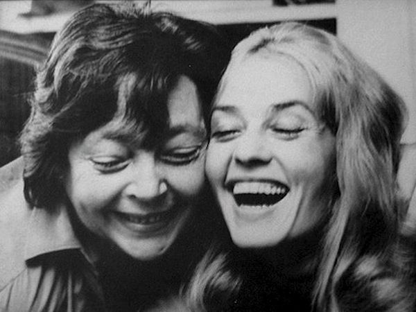 Marguerite Duras and Jeanne Moreau, c1972
