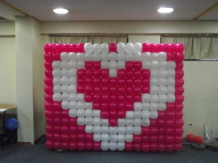 Las 25 mejores ideas sobre pared de globos en pinterest y - Decoraciones para paredes ...
