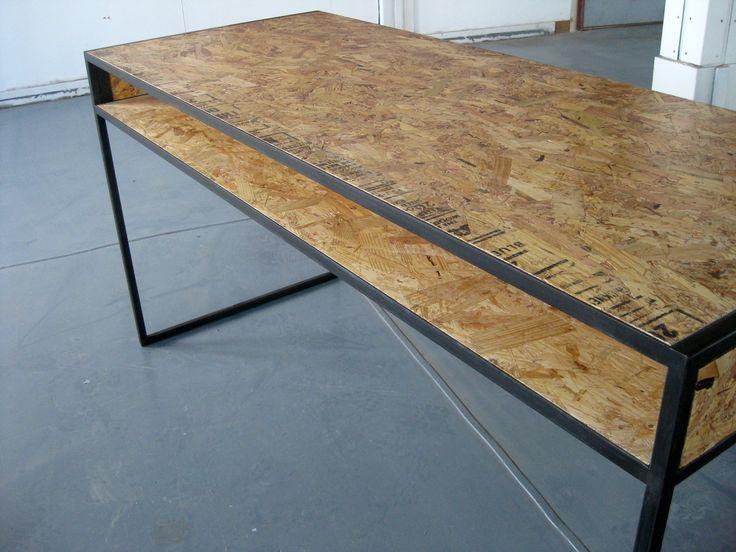 osb desk products i love pinterest custom desk desks and welding. Black Bedroom Furniture Sets. Home Design Ideas