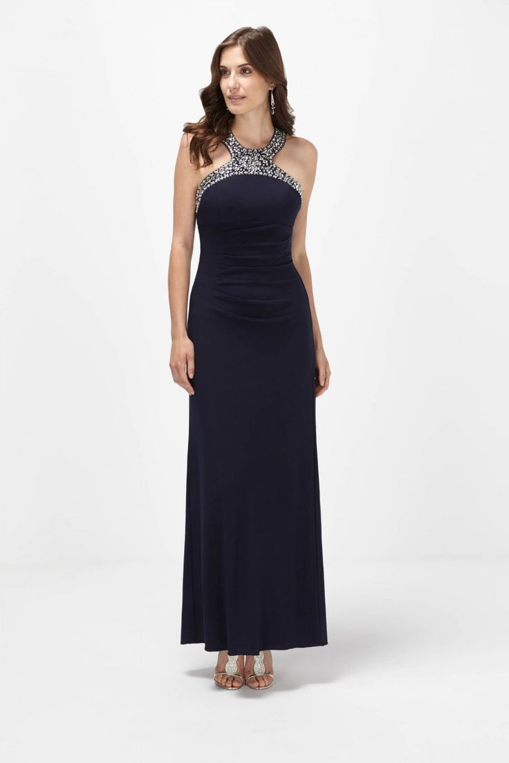 Beaded Halter Empire Gown - Dresses - Shop By: - Clothing | Melanie Lyne