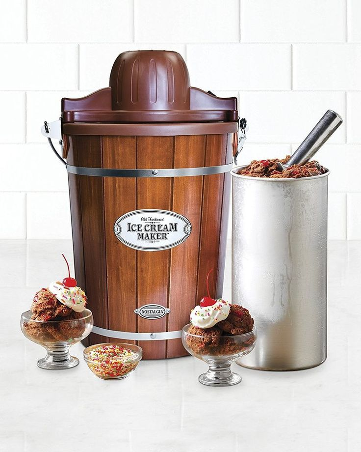 Vintage Ice Cream Maker 6 Qt Wood Bucket Nostalgia Dorm Church Fundraiser #NostalgiaElectrics