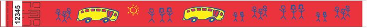 "3/4"" Tyvek® Wristbands - School Bus"