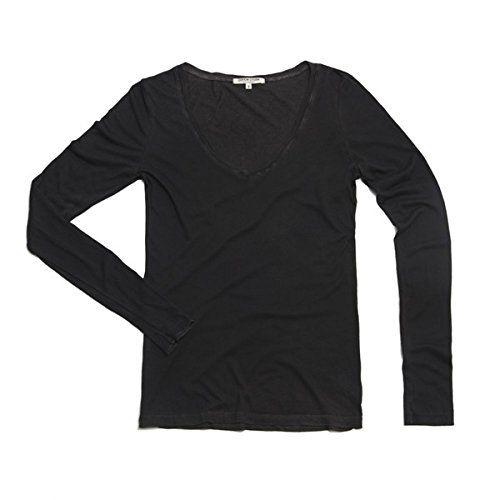 (コットンシチズン) Cotton Citizen レディース トップス Tシャツ Classic V-neck Long Sleeve Shirt in Vintage Black 並行輸入品  新品【取り寄せ商品のため、お届けまでに2週間前後かかります。】 カラー:- 商品詳細1:50% supima cotton/50% modal Machin