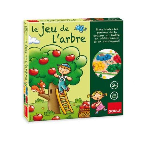 Additionner, soustraire sont des notions faciles à comprendre avec ce jeu en bois. À chaque lancer de dés, l'enfant ajoute ou enlève des pommes à son pommier... Le premier qui remplit son pommier gagne la partie. Une merveilleuse approche des maths et des couleurs tout en s'amusant.