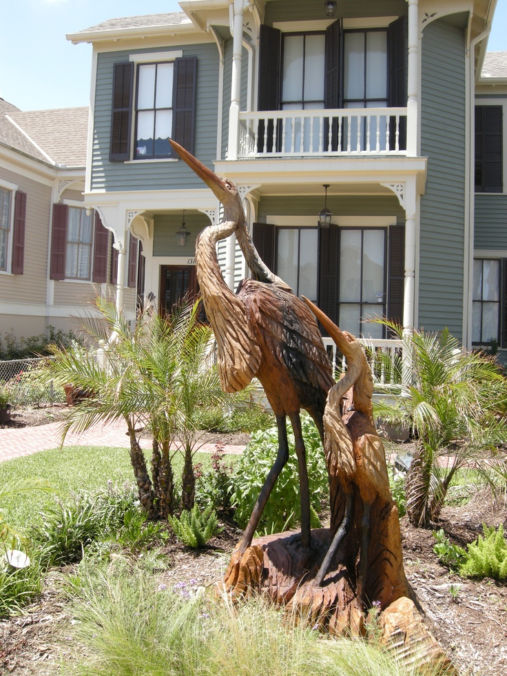 Galveston tx carved from a tree destroyed by hurricane