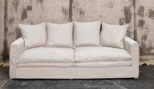 Divano in lino sfoderabile - Linen sofa http://www.griffegenova.com/Griffe_Home/Divani_pint_new.html