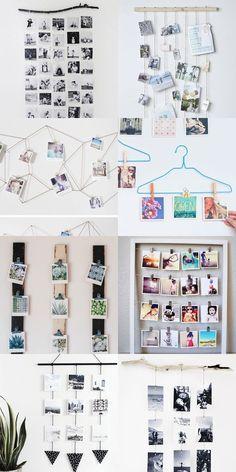 8 ideas para crear una galería diy collage con mini fotos