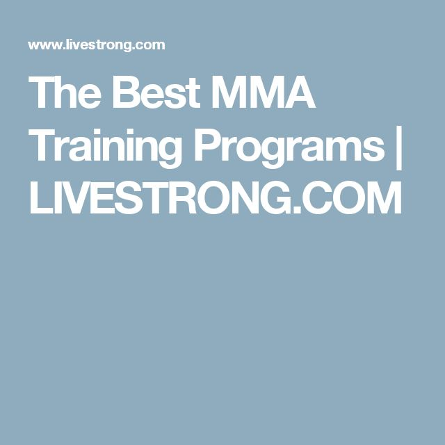 The Best MMA Training Programs | LIVESTRONG.COM