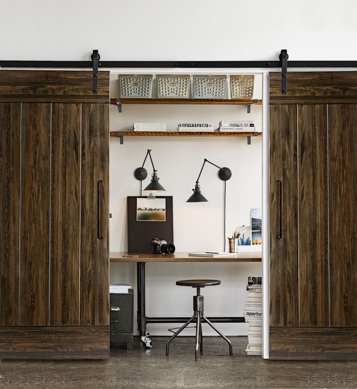 268 best home office images on pinterest cubicles home for Barn doors for home office