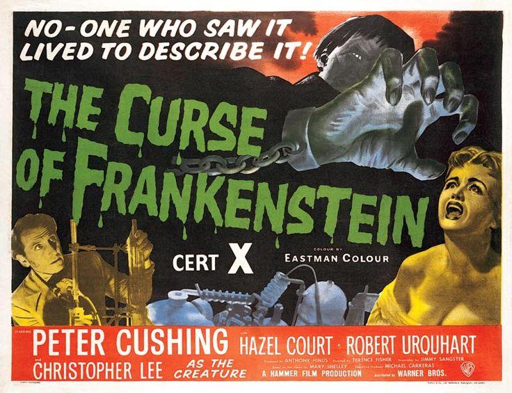 """[2] En 1957 """"Frankenstein s'est échappé"""" crée un frisson nouveau dans le film d'épouvante ; gros succès au Royaume-Uni et aux Etats-Unis, devançant même """"Le pont de la rivière Kwaï"""". Sa maison de production, la Hammer Films, dès lors creusa résolument le sillon, et produira jusqu'en 1973 au moins 5 films par an relevant le plus souvent de l'épouvante horrifique, créant un genre qu'elle dominera."""