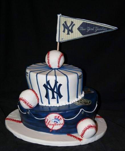 Yankees Baby Shower Cake