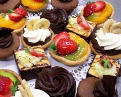 Petit Fours – Assortment of delicious bite sized cakes and slices