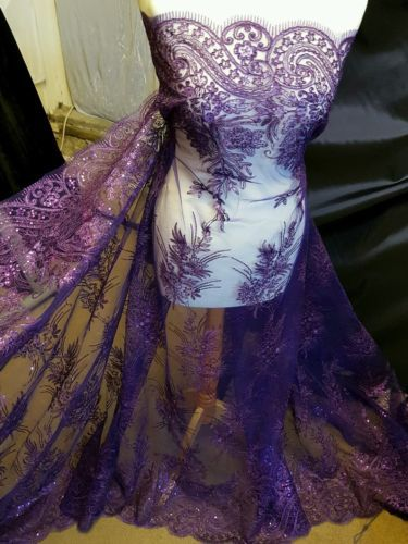 1Mnew-purple-BRIDAL-SCALLOPED-LACE-EMBRIOUDED-SEQUIN-FABRIC-58-034-WIDE