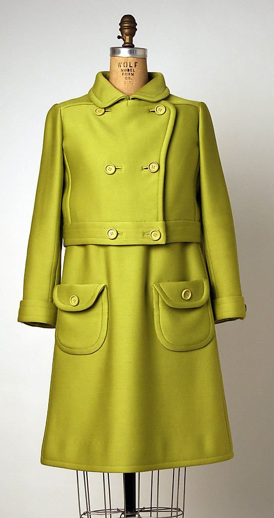 Ensemble André Courrèges (French, born 1923) Date: 1965–66 Culture: French Medium: wool
