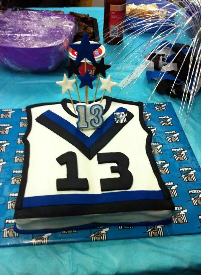 My eldests sons Port Power Guernsey Cake for his 13th , June 2014