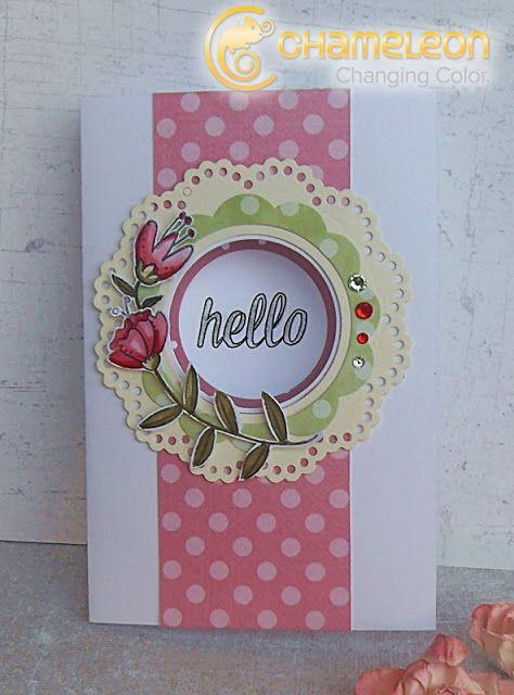 fiori di fantasia: Waffle flower card :)