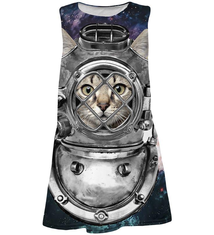 Astronaut Cat summer dress for kids, Mr. GUGU & Miss GO