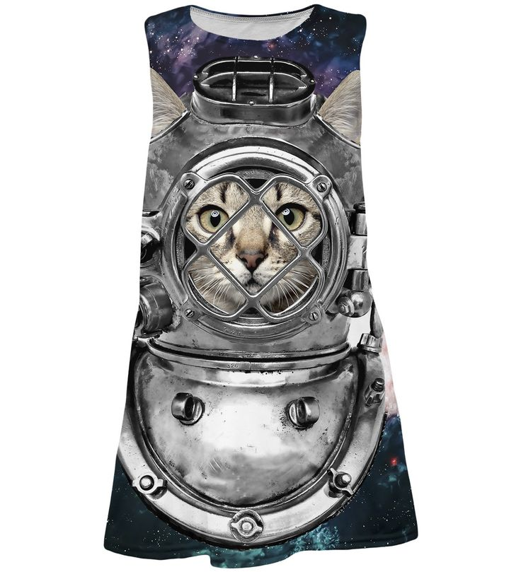 Astronaut Cat summer dress for kids, Mr. GUGU & Miss GO