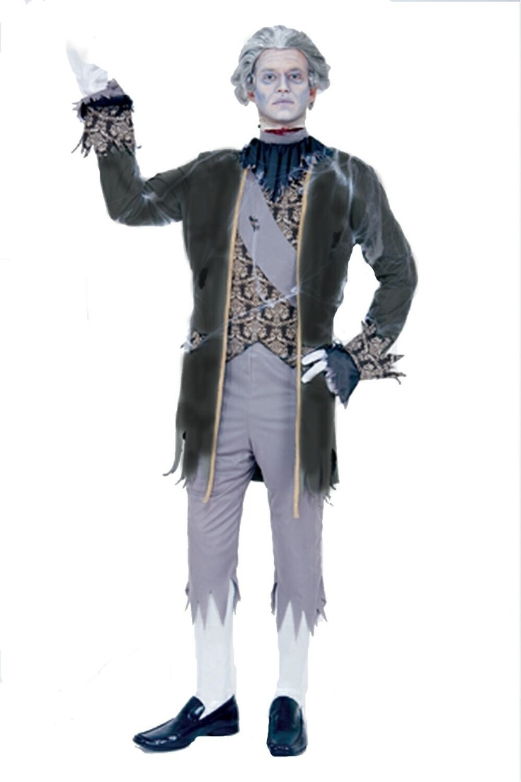 ghost king louis costume roam the castle halls as the famous king louis xvi of france ghost stories king louis mens halloween costume includes tattered