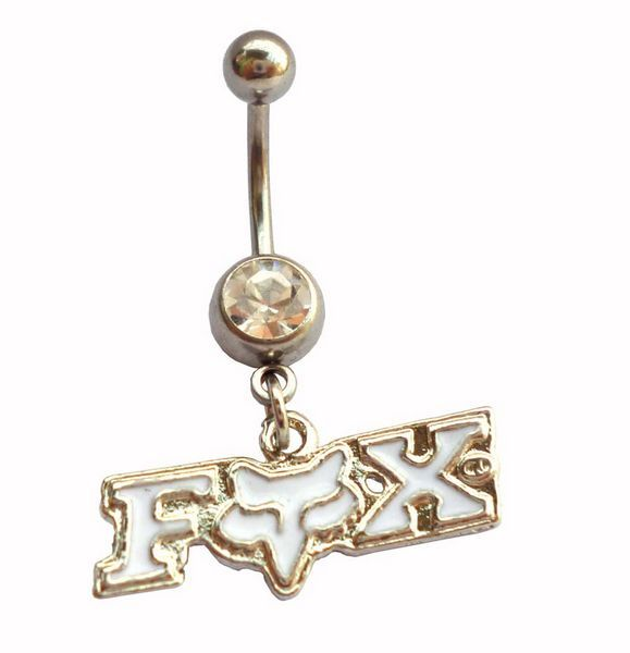 White fox racing belly ring! And it looks pretty cool with the gold surprisingly cause usually I don't like gold