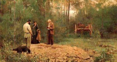 Frederick McCubbin - A Bush Burial, 1890