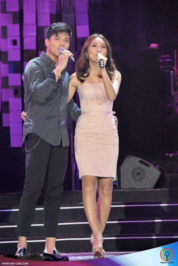 """This is the handsome Daniel Padilla and the pretty Kathryn Bernardo singing a medley of """"Got to Believe in Magic"""" and """"Pangako Sa 'Yo"""" during the production number of the three biggest Kapamilya love teams during the 2015 ABS-CBN Christmas Special held at the Smart Araneta Coliseum last December 8, 2015. Indeed, KathNiel is my favourite Kapamilya love team, and they're amazing Star Magic talents. #KathNiel #KathNielBernaDilla #ABSCBNChristmasSpecial #ThankYoufortheLove"""