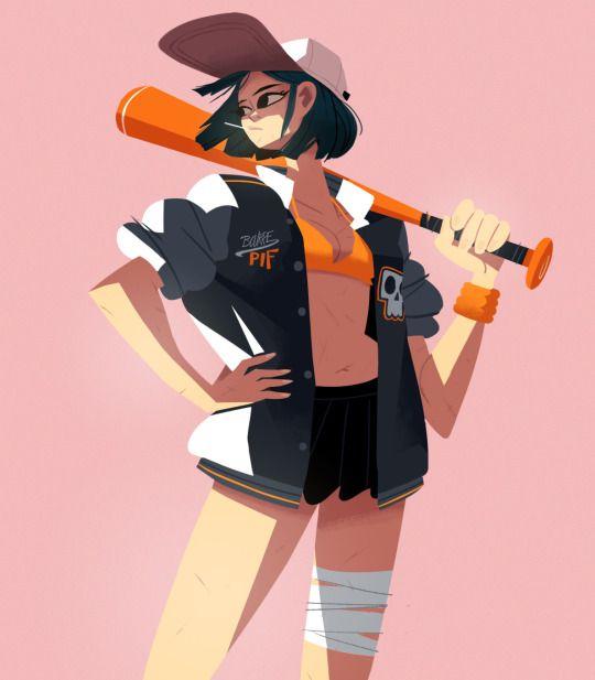 Disney Character Design Apprentice : Some baseball girls charles lemor character design
