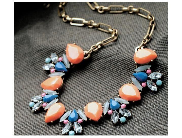 Orange designer necklace