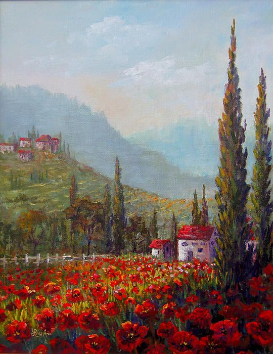 Title Inspired By Tuscany Artist Lou Ann Bagnall Medium Painting - Acrylic On Canvas