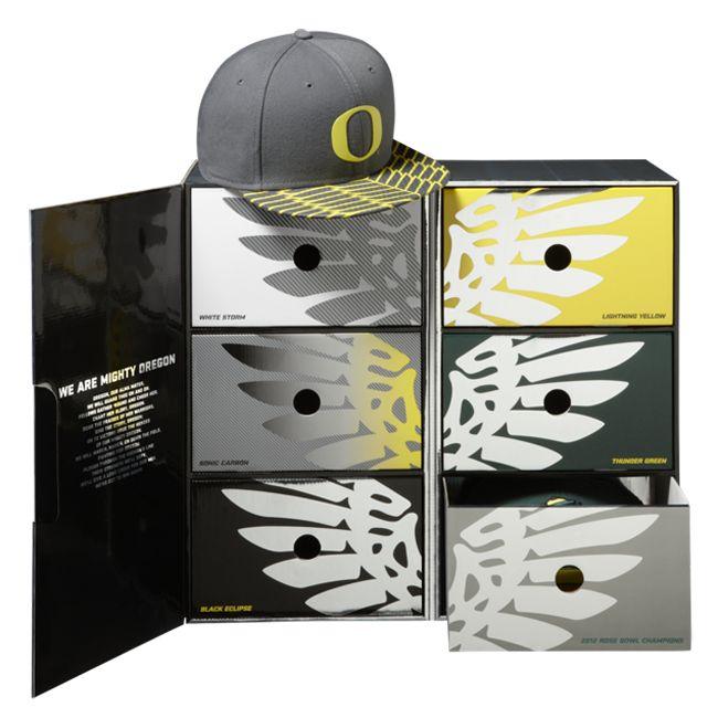 Oregon Ducks Football Snapbacks Hat Box x Nike