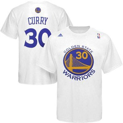 Mens Golden State Warriors Stephen Curry adidas White Net Number T-Shirt size S