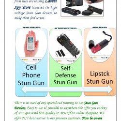 Get different types of stun gun & ensure women safety.