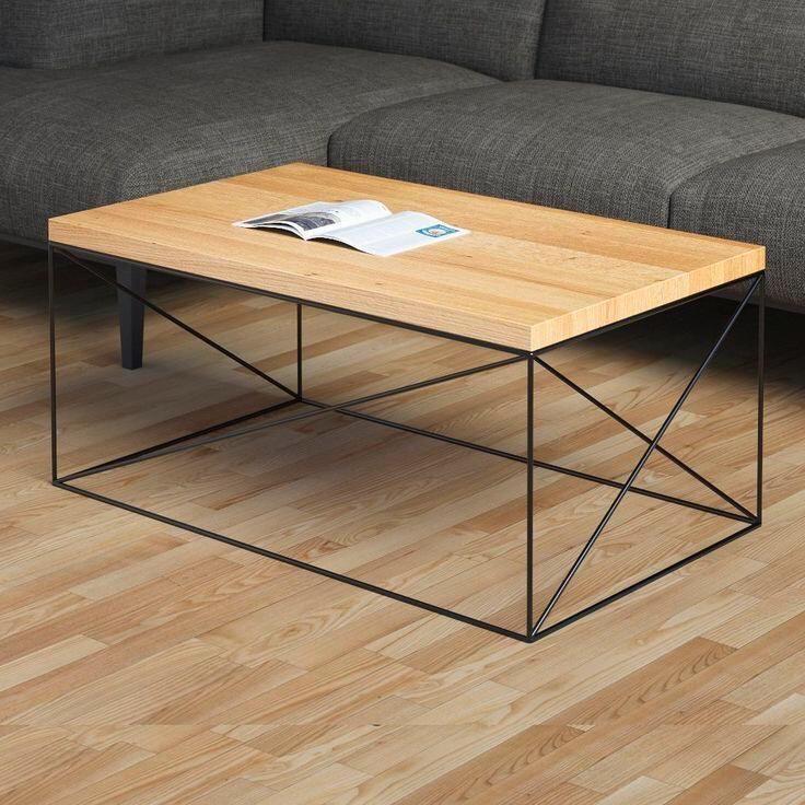 Mesa de centro minimalista para el salon de tu casa