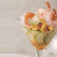 Martini de crevettes à la salsa de mangue sur Wikibouffe