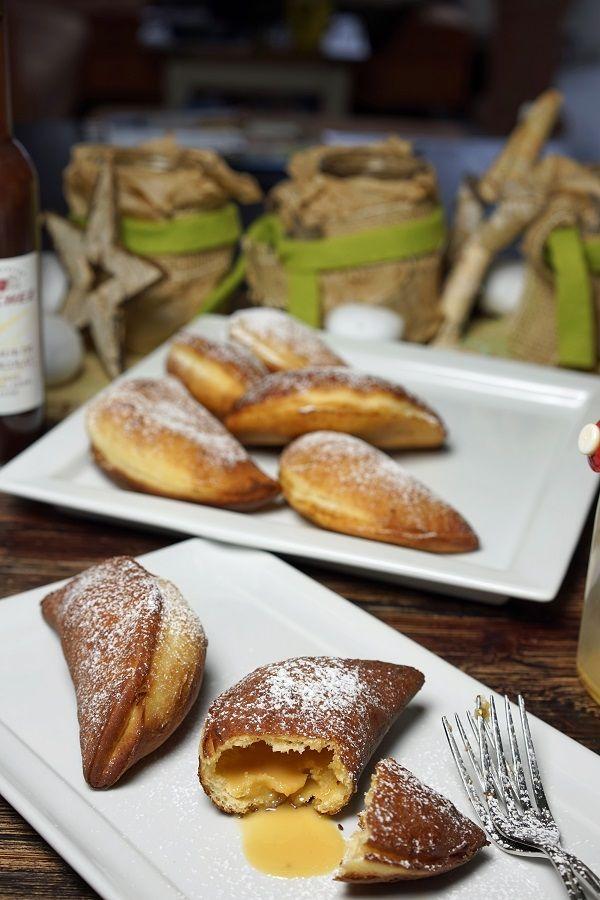 stuttgartcooking: Gebackene Hefeteig-Taschen gefüllt mit Eierlikör und Schokoladenlikör