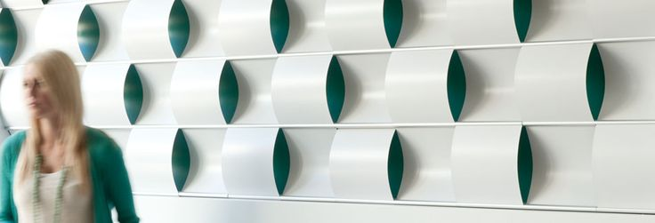 """Ripple Wall   3form --- """"Open up a whole new design paradigm with flowing lines in an easy-to-install configuration. Available with a variety of finish options, Ripple Wall brings pre-packaged simplicity to the Wovin Wall family."""""""