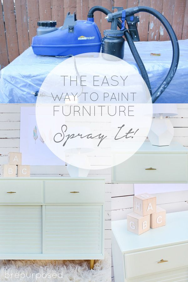 Mid Century Mint Table for a Nursery and How to Spray Furniture - brepurposed