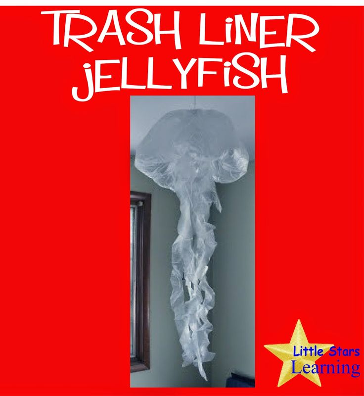 I and the children LOVE these AMAZING trash liner jellyfish.   So simple, and yet such an amazing addition to our OCEAN/SEA theme.        ...