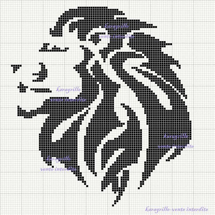 Knitting Embroidery Patterns : Free lion cross stitch pattern stitching s t i c h