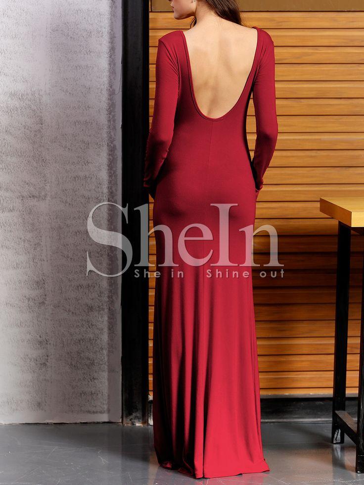 Vestido sin espalda maxi-Sheinside